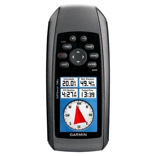 """GPS Portátil Marítimo Garmin GPSMAP 78 GPS Flutuante, Tela de 2,6"""", Bússola de 3 Eixos"""