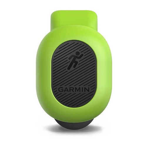 Monitor de Cadência, Oscilação, Razão Vertical, Comprimento da passada Garmin Running Dynamics Pod Verde
