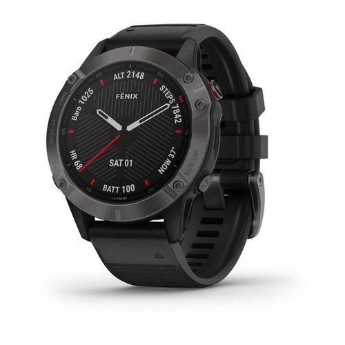 Smartwatch GPS Multiesportivo Premium Garmin com Monitoramento Cardíaco no Pulso Fênix 6 com pulso OX, Mapa TOPO Am. Latina, Música