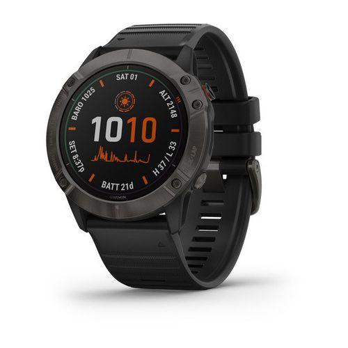 Relógio Garmin Fenix 6 Solar com Monitor Cardíaco de Pulso e GPS
