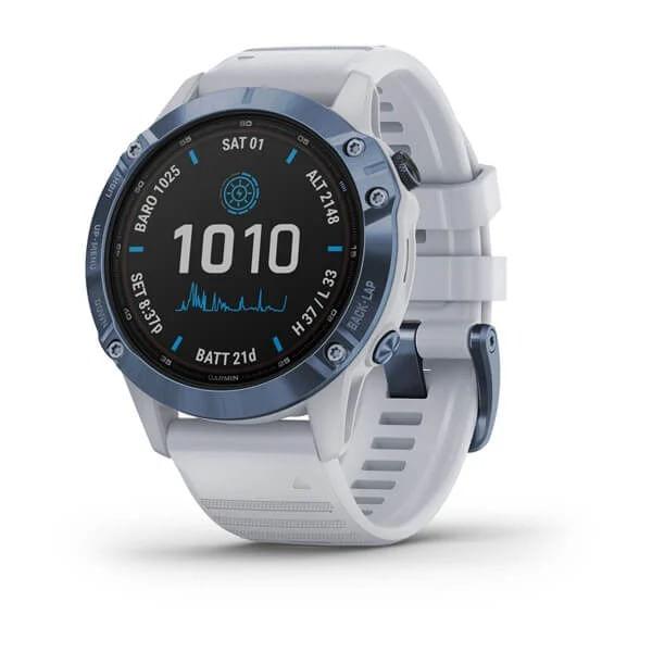 Monitor-Cardiaco-de-Pulso-com-GPS-Garmin-Fenix-6-Pro-Solar-Azul-c-pulseira-Branca---1-