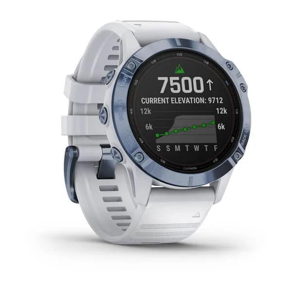 Monitor-Cardiaco-de-Pulso-com-GPS-Garmin-Fenix-6-Pro-Solar-Azul-c-pulseira-Branca---2-