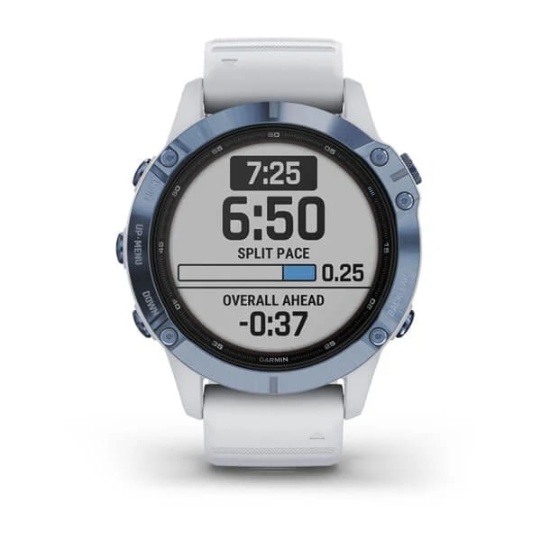 Monitor-Cardiaco-de-Pulso-com-GPS-Garmin-Fenix-6-Pro-Solar-Azul-c-pulseira-Branca---3-