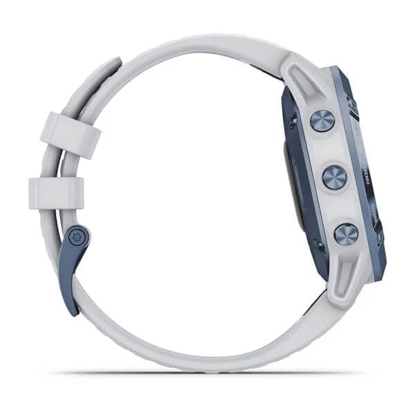 Monitor-Cardiaco-de-Pulso-com-GPS-Garmin-Fenix-6-Pro-Solar-Azul-c-pulseira-Branca---4-