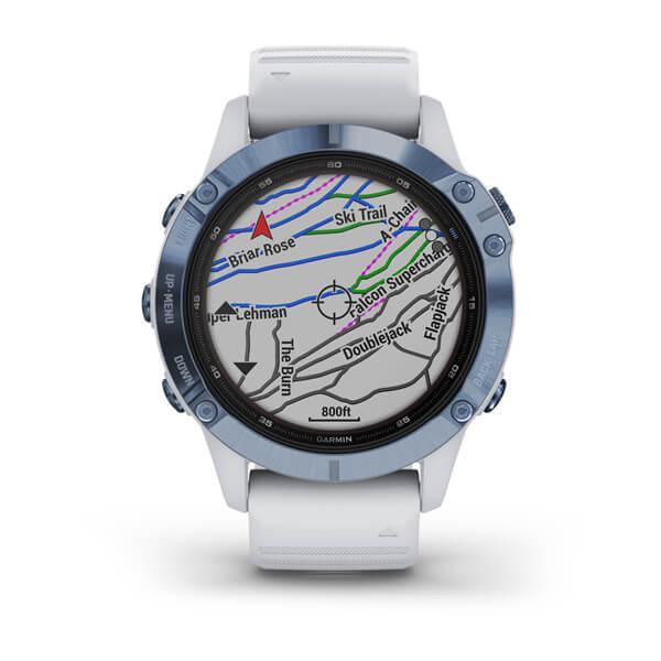 Monitor-Cardiaco-de-Pulso-com-GPS-Garmin-Fenix-6-Pro-Solar-Azul-c-pulseira-Branca---5-