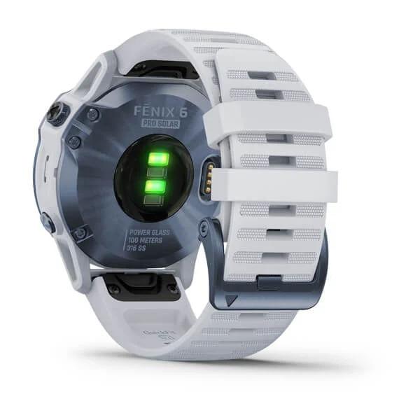 Monitor-Cardiaco-de-Pulso-com-GPS-Garmin-Fenix-6-Pro-Solar-Azul-c-pulseira-Branca---9-