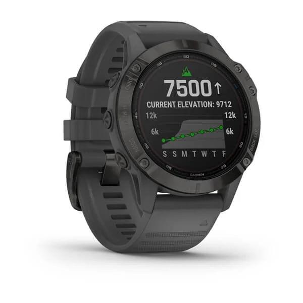 Monitor-Cardiaco-de-Pulso-com-GPS-Garmin-Fenix-6-Pro-Solar-Preto-c-pulseira-Cinza---2-