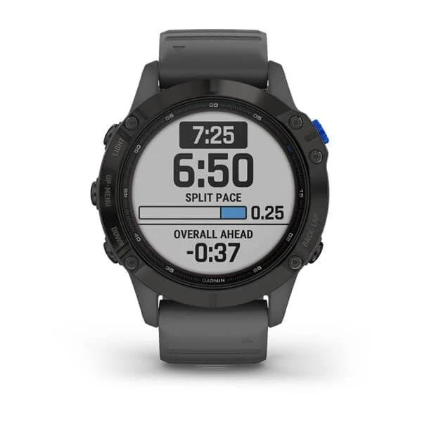 Monitor-Cardiaco-de-Pulso-com-GPS-Garmin-Fenix-6-Pro-Solar-Preto-c-pulseira-Cinza---3-