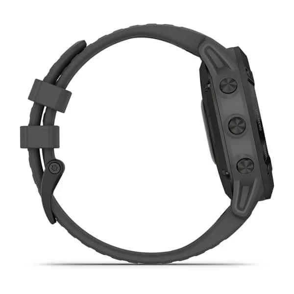 Monitor-Cardiaco-de-Pulso-com-GPS-Garmin-Fenix-6-Pro-Solar-Preto-c-pulseira-Cinza---4-