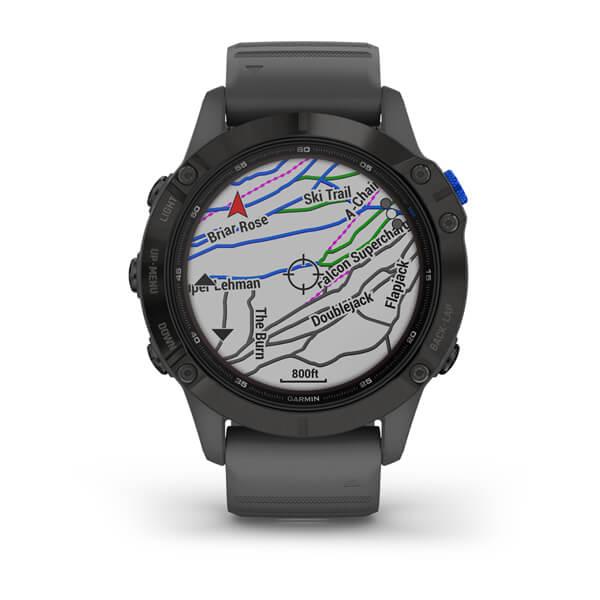 Monitor-Cardiaco-de-Pulso-com-GPS-Garmin-Fenix-6-Pro-Solar-Preto-c-pulseira-Cinza---5-