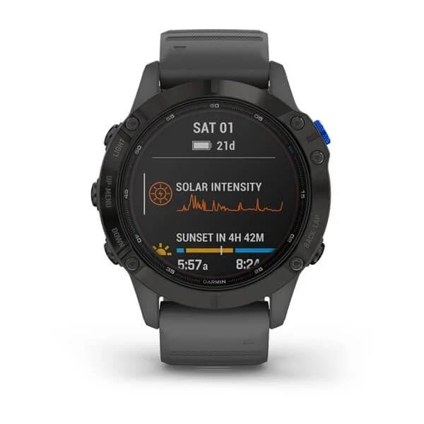 Monitor-Cardiaco-de-Pulso-com-GPS-Garmin-Fenix-6-Pro-Solar-Preto-c-pulseira-Cinza---7-