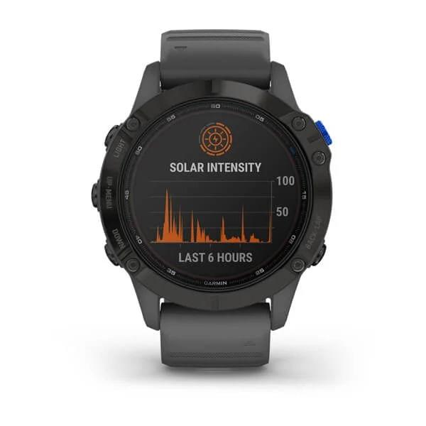 Monitor-Cardiaco-de-Pulso-com-GPS-Garmin-Fenix-6-Pro-Solar-Preto-c-pulseira-Cinza---8-