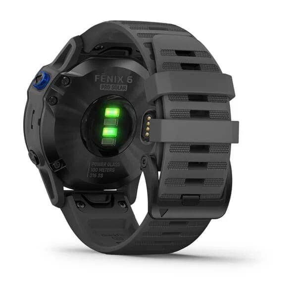 Monitor-Cardiaco-de-Pulso-com-GPS-Garmin-Fenix-6-Pro-Solar-Preto-c-pulseira-Cinza---9-