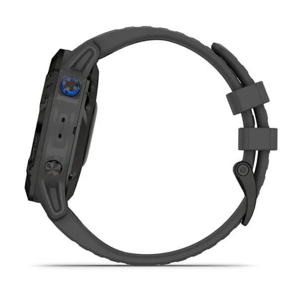 Monitor-Cardiaco-de-Pulso-com-GPS-Garmin-Fenix-6-Pro-Solar-Preto-c-pulseira-Cinza---10-