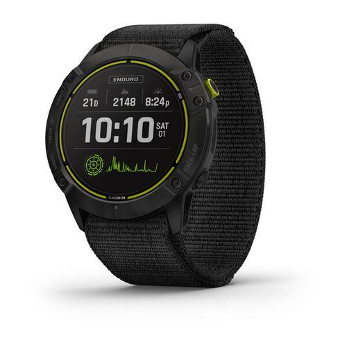 Relógio Garmin Enduro Preto Pulseira Preta Loop Monitor Cardíaco de Pulso com GPS