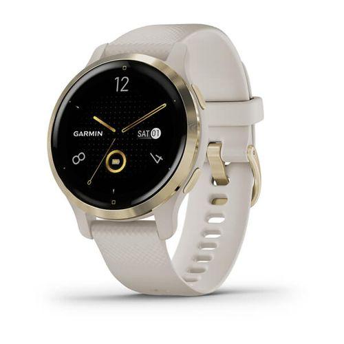 Relógio Garmin Venu 2S Champagne WW Monitor Cardíaco de Pulso com GPS