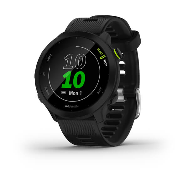 Relogio-Garmin-Forerunner-55-Preto-EU-Monitor-Cardiaco-de-Pulso-com-GPS