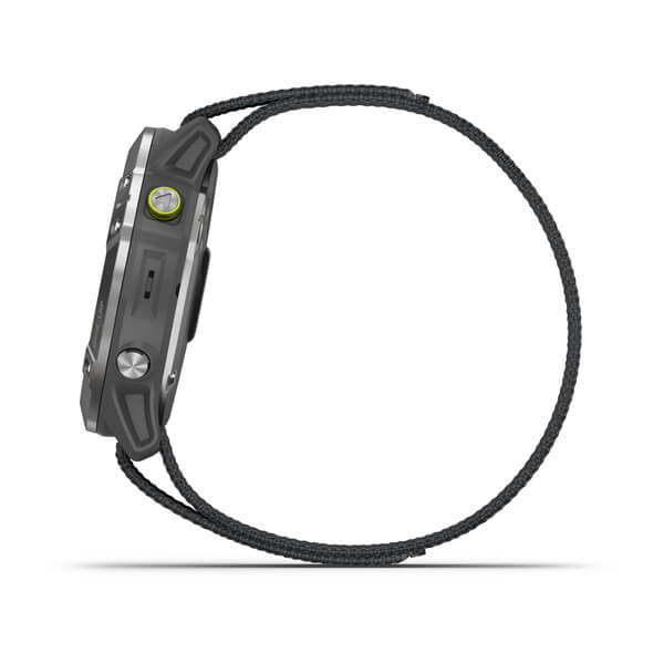 Relogio-Garmin-Enduro-Prata-Pulseira-Cinza-Loop-Monitor-Cardiaco-de-Pulso-com-GPS